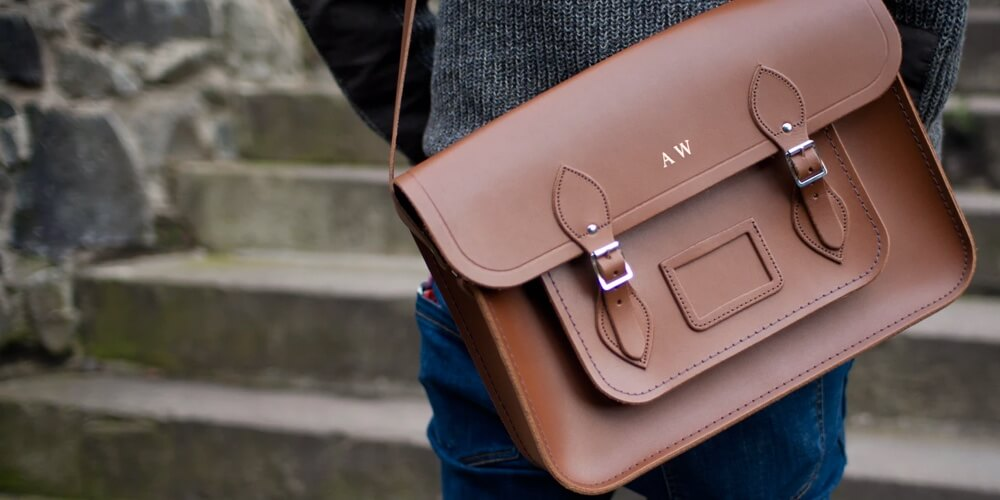 best leather messenger bag india
