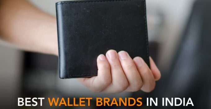 branded black leather wallet